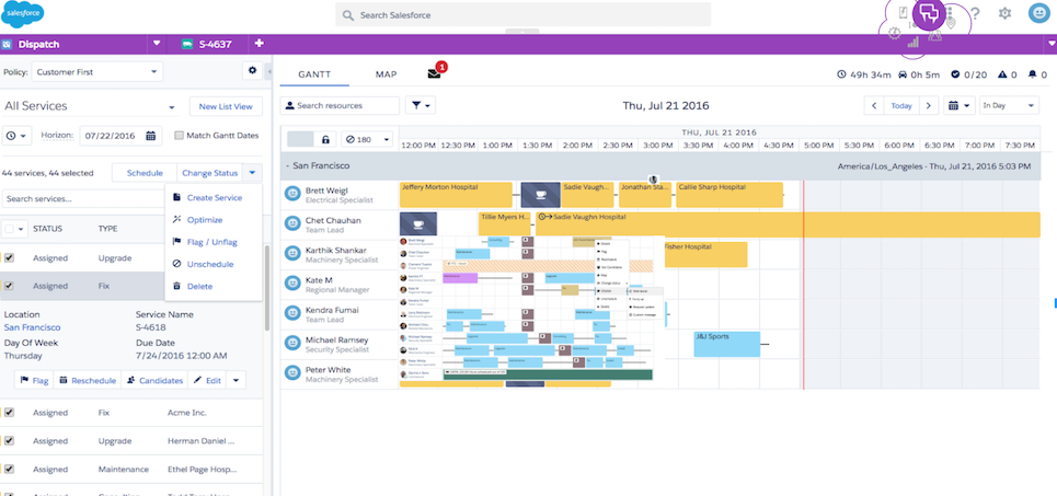 Salesforce Field Service Lightning Screenshot