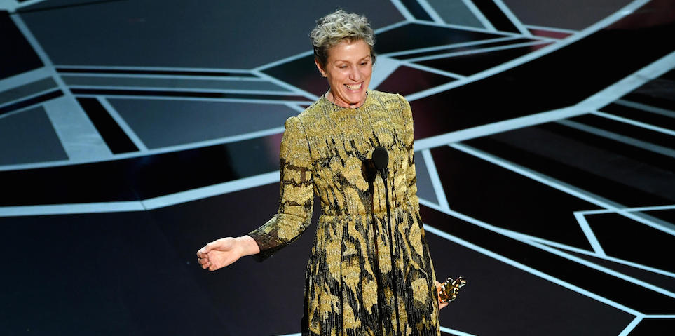 Frances McDormand at the Oscars
