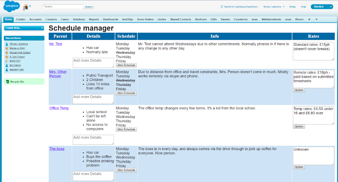 Visualforce page in Salesforce Classic
